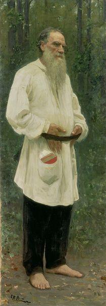 Portrait of Lev Tolstoy 1901 von Ilya Efimovich Repin