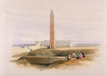 Obelisk at Alexandria, commonly called Cleopatra's Needle von David Roberts