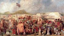 Native Princes Arriving in Camp for the Imperial Assemblage at Delhi von George Landseer