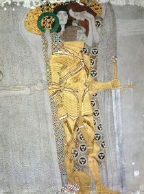 The Knight detail of the Beethoven Frieze von Gustav Klimt