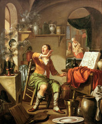 The Alchemist by Hendrick Heerschop or Herschop