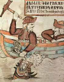 Thor fishing for the serpent of Midgard von Icelandic School