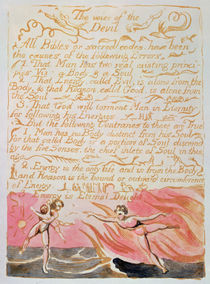 The Marriage of Heaven and Hell; The Voice of the Devil von William Blake