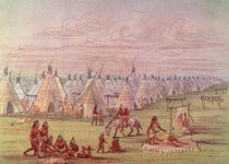 Comanchee Village by George Catlin