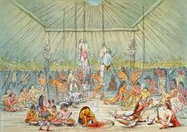 Mandan ceremony by George Catlin