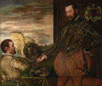 Scipio Clusone with a dwarf valet by Jacopo Robusti Tintoretto