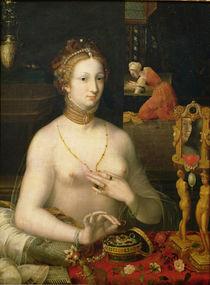 Woman at her Toilet, 1585-95 von Fontainebleau School