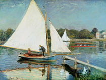 Sailing at Argenteuil, c.1874 von Claude Monet