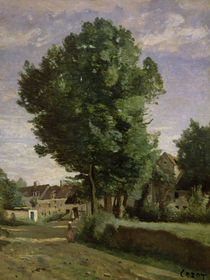 Outskirts of a village near Beauvais by Jean Baptiste Camille Corot