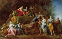 Orpheus in the Underworld reclaiming Eurydice by Jean II Restout