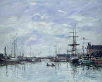 Deauville, the Dock, 1892 by Eugene Louis Boudin