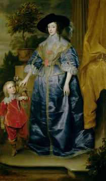 Queen Henrietta Maria and her dwarf Sir Jeffrey Hudson von Anthony van Dyck