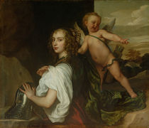 A Lady as Erminia, Attended by Cupid by Anthony van Dyck