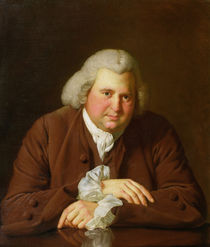 Portrait of Dr Erasmus Darwin scientist by Joseph Wright of Derby