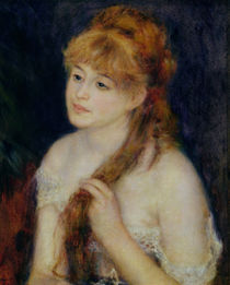Young Woman Braiding her Hair von Pierre-Auguste Renoir
