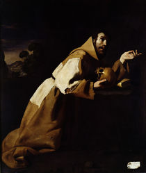 St. Francis in Meditation, 1639 von Francisco de Zurbaran