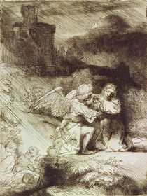 The Agony in the Garden by Rembrandt Harmenszoon van Rijn