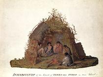 Inhabitants of the Island of Terra del Fuego in their Hut by Alexander Buchan