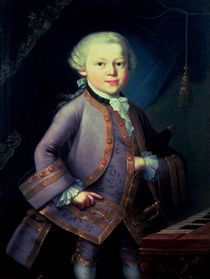Wolfgang Amadeus Mozart , 1763 by Peter Anton Lorenzoni