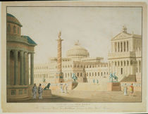 The Capitol, set design for 'Titus' von Friedrich Beuther