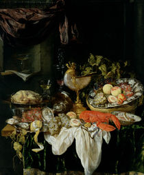 Still Life with Fruit von Abraham Hendricksz van Beyeren