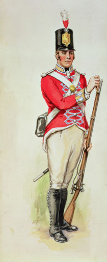 British soldier in Napoleonic times carrying a musket von English School