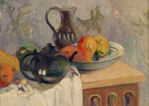 Teiera, Brocca e Frutta, 1899 by Paul Gauguin