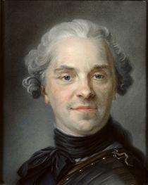 Portrait of Maurice, Comte de Saxe 1747 by Maurice Quentin de la Tour