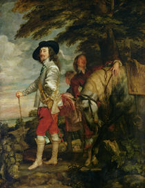 King Charles I of England out Hunting von Anthony van Dyck