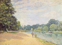 The Thames with Hampton Church von Alfred Sisley