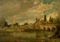 The Bridge of Harnham and Salisbury Cathedral by John Constable