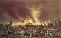 The Great Fire of London, 1666 by Lieve Verschuier