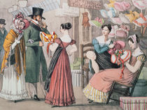 At the Milliners , printed by Charles Joseph Hullmandel by John James Chalon