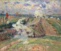 The Two Trains von Jean Baptiste Armand Guillaumin
