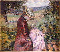 Madame Guillaumin reading, c.1887 by Jean Baptiste Armand Guillaumin