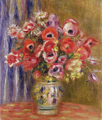 Vase of Tulips and Anemones by Pierre-Auguste Renoir