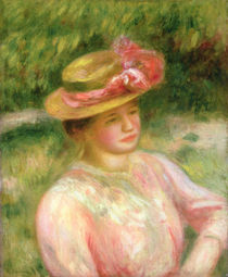 The Straw Hat, 1895 by Pierre-Auguste Renoir