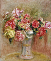 Roses in a Sevres vase von Pierre-Auguste Renoir