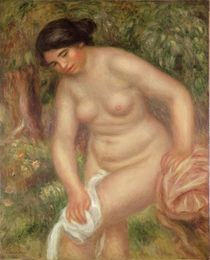 Bather drying herself, 1895 by Pierre-Auguste Renoir