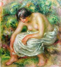 The toilet after the bath, 1915 von Pierre-Auguste Renoir