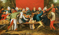 A Wedding Feast by Pieter Brueghel the Younger