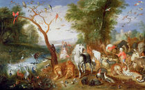 The Animals entering Noah's Ark by Jan van the Younger Kessel