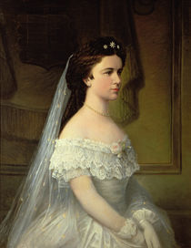 Elizabeth of Bavaria , Empress of Austria by Austrian School