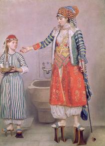 Turkish Woman with her Servant by Jean-Etienne Liotard