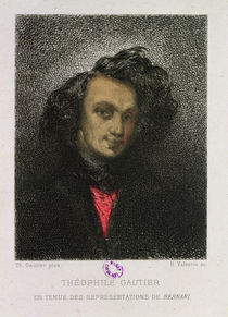 Self portrait, dressed for 'Hernani' by Theophile Gautier