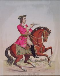 Captain MacHeath, the highwayman hero of 'The Beggar's Opera' by John Gay by English School