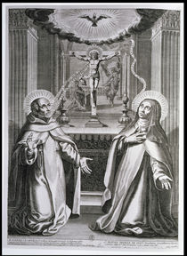 St. John of the Cross and St. Teresa of Avila by French School