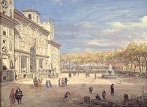 The Villa Medici, Rome, 1685 von Gaspar van Wittel