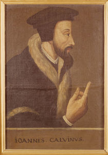 Portrait of John Calvin French theologian and reformer by Swiss School