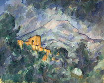Montagne Sainte-Victoire and the Black Chateau von Paul Cezanne